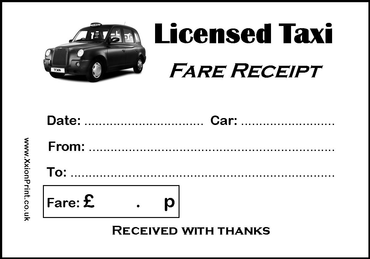 2 Pads of 100 Black Taxi Cab / Licensed Taxi Receipts - 200 ...